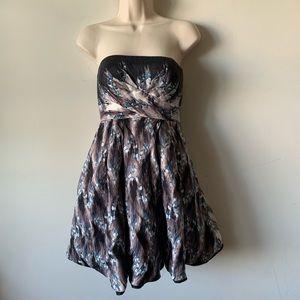 Tibi New York silk strapless mini dress